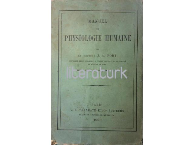 MANUEL DE PHYSIOLOGIE HUMAINE