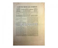GAZETTE MEDICALE D'ORIENT - IX ANNEE, NO:1 - AVRIL 1865 [CERİDE-İ TIBBİYE-İ ŞARKİYE]