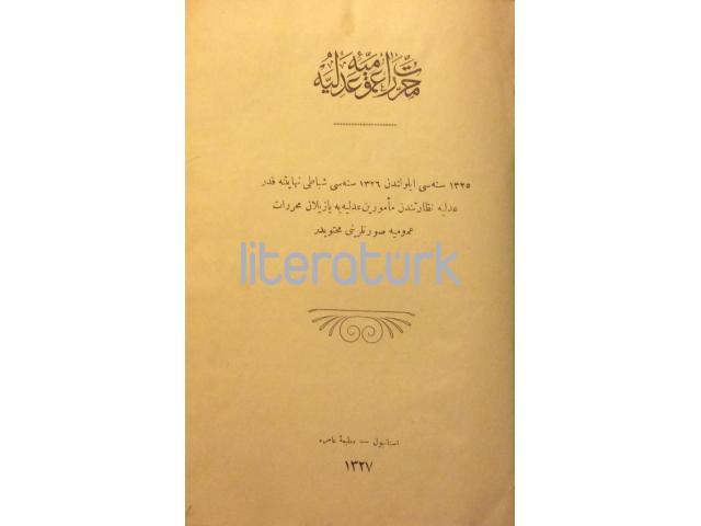 MUHARRERAT-I UMUMİYE-İ ADLİYE [1325-1326]