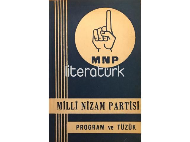 MİLLİ NİZAM PARTİSİ PROGRAM VE TÜZÜK - MNP