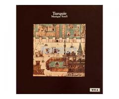 NEZİH UZEL, KUDSİ ERGUNER ✩ TURQUIE MUSIQUE SOUFI ✩  LP PLAK [FRANSA, 1976]
