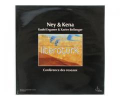 KUDSİ ERGUNER, XAVIER BELLENGER ✩ CONFERENCE DES ROSEAUX ✩ NEY & KENA ✩ LP PLAK [FRANSA, 1984]