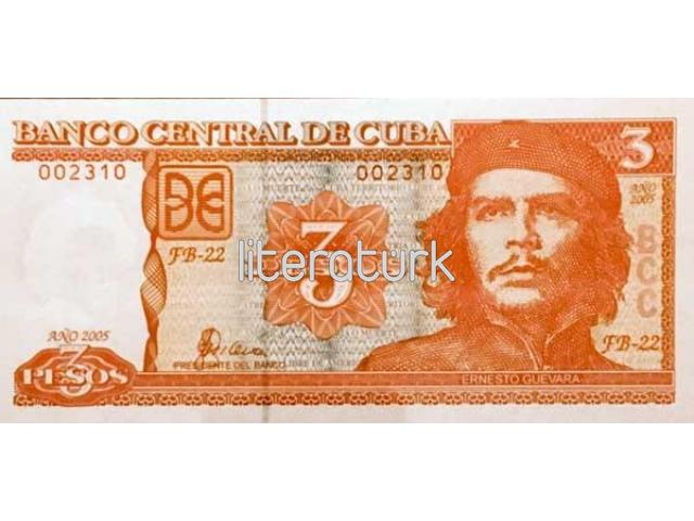 BANCO CENTRAL DE CUBA ✩ 3 PESOS [2005] ✩ CHE GUEVARA RESİMLİ [ÇİL]