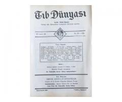 TIB DÜNYASI - AYLIK TIBBİ RİSALE - İKİNCİTEŞRİN 1942; CİLT 15 SAYI 11 [175]