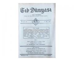 TIB DÜNYASI - AYLIK TIBBİ RİSALE - BİRİNCİTEŞRİN 1942; CİLT 15 SAYI 10 [174]