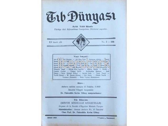TIB DÜNYASI ✩ AYLIK TIBBİ RİSALE ✩ ŞUBAT 1942; CİLT 15 SAYI 2 [166]