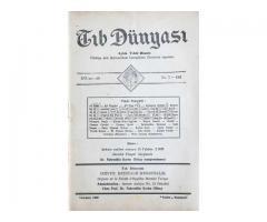 TIB DÜNYASI - AYLIK TIBBİ RİSALE - TEMMUZ 1943; CİLT 16 SAYI 7 [183]