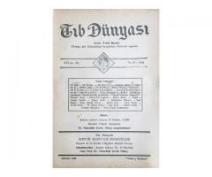 TIB DÜNYASI ✩ AYLIK TIBBİ RİSALE ✩ AĞUSTOS 1943; CİLT 16 SAYI 8 [184]