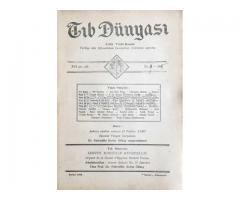 TIB DÜNYASI ✩ AYLIK TIBBİ RİSALE ✩ EYLÜL 1943; CİLT 16 SAYI 9 [185]