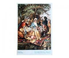 RESSAM PREZIOSSI ✩ KAĞITHANE ✩ BİR ASIR EVVELKİ İSTANBUL HAYATI [RENKLİ KARTPOSTAL]