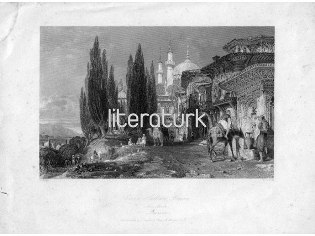 THOMAS ALLOM ✩ EMIR SULTAN BRUSA ✩ 1838 [GRAVÜR]