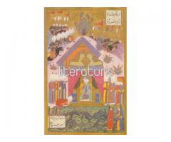 MATRAKÇI NASUH ✩ SÜLEYMANNAME ✩ KANUNİ'NİN İRAN SEFİRİNİ KABULÜ № 30 [TIPKIBASIM, MİNYATÜR]