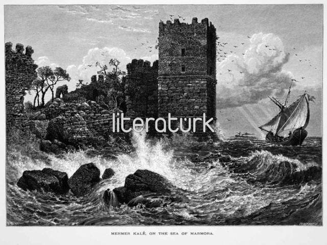 J.D.W. JOSIAH WOOD WHYMPER ✩ MERMER KALE ON THE SEA OF MARMORA ✩ 1879 [GRAVÜR]
