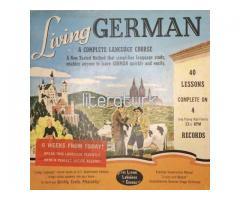 LIVING GERMAN ✩ A COMPLETE LANGUAGE COURSE ✩ 4 LP PLAK + 2 KİTAP TAKIM KUTULU
