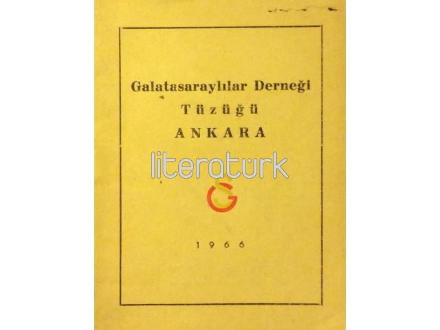 GALATASARAYLILAR DERNEĞİ TÜZÜĞÜ [1966]
