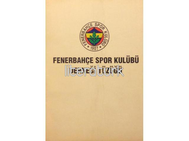 FENERBAHÇE SPOR KULÜBÜ DERNEĞİ TÜZÜĞÜ [1993]