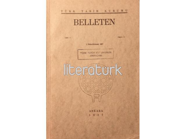 BELLETEN [1937] CİLT: 1, SAYI: 1, 2, 3, 4 [I, II, III, IV] TAKIM [İLK BASKI]